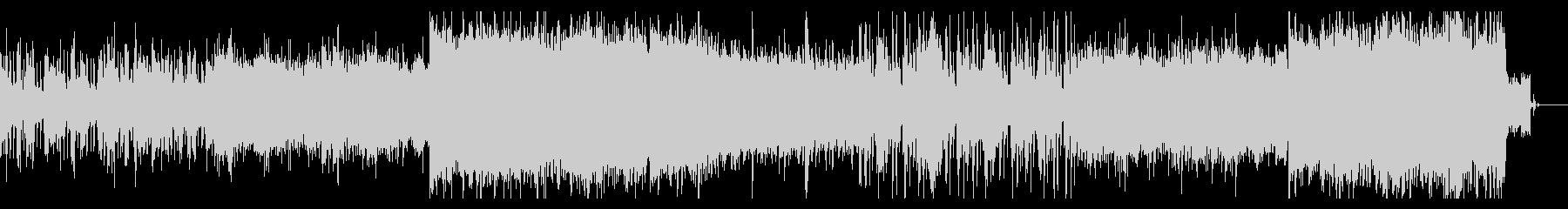 サイバネティックなSFシネマティック曲の未再生の波形