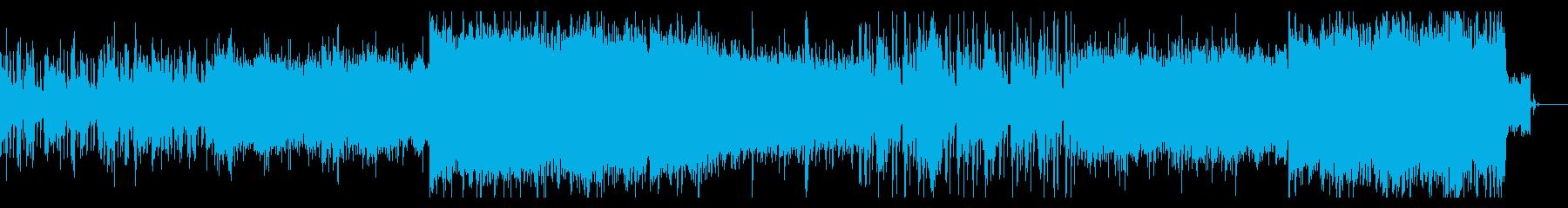 サイバネティックなSFシネマティック曲の再生済みの波形