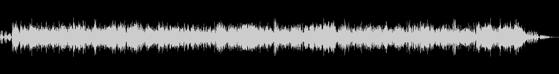 ハワイアンジャズバンドと鳥の声(環境音)の未再生の波形