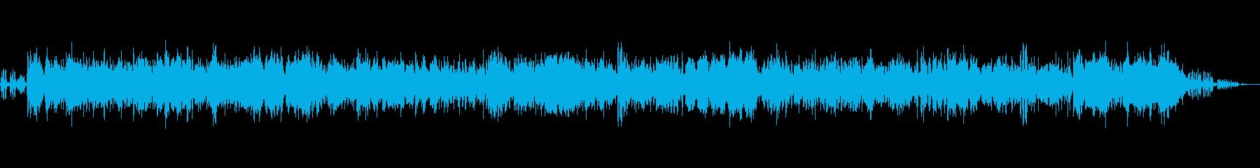 ハワイアンジャズバンドと鳥の声(環境音)の再生済みの波形