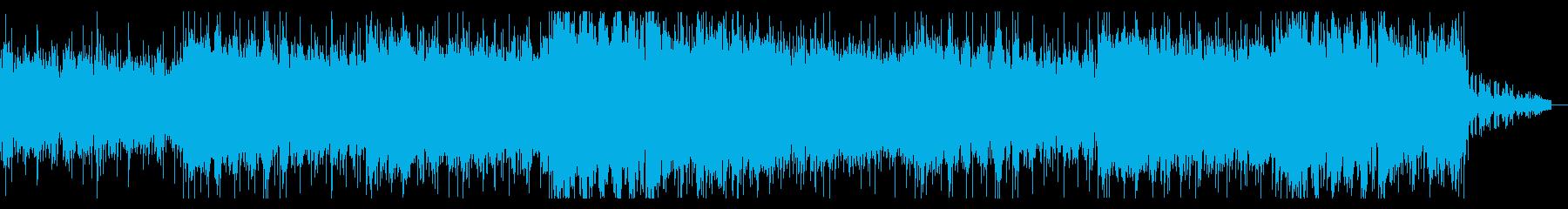 不気味にねじれたホラーテクスチャーの再生済みの波形