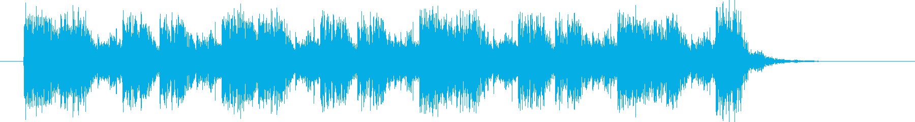 躍動感あるダークなシンセジングルの再生済みの波形