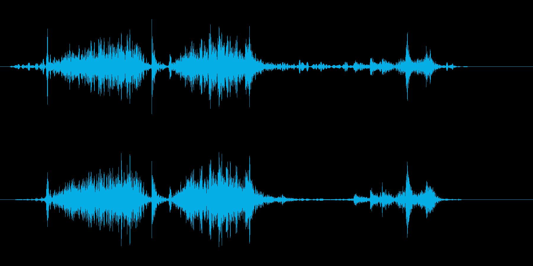 ミシンで少し縫う音(ウィーン、ガチャ)の再生済みの波形