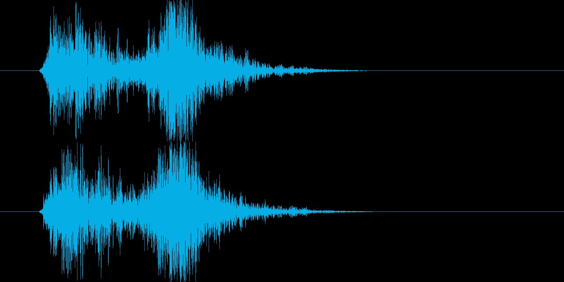 ホラーのカット間に最適な効果音です。の再生済みの波形