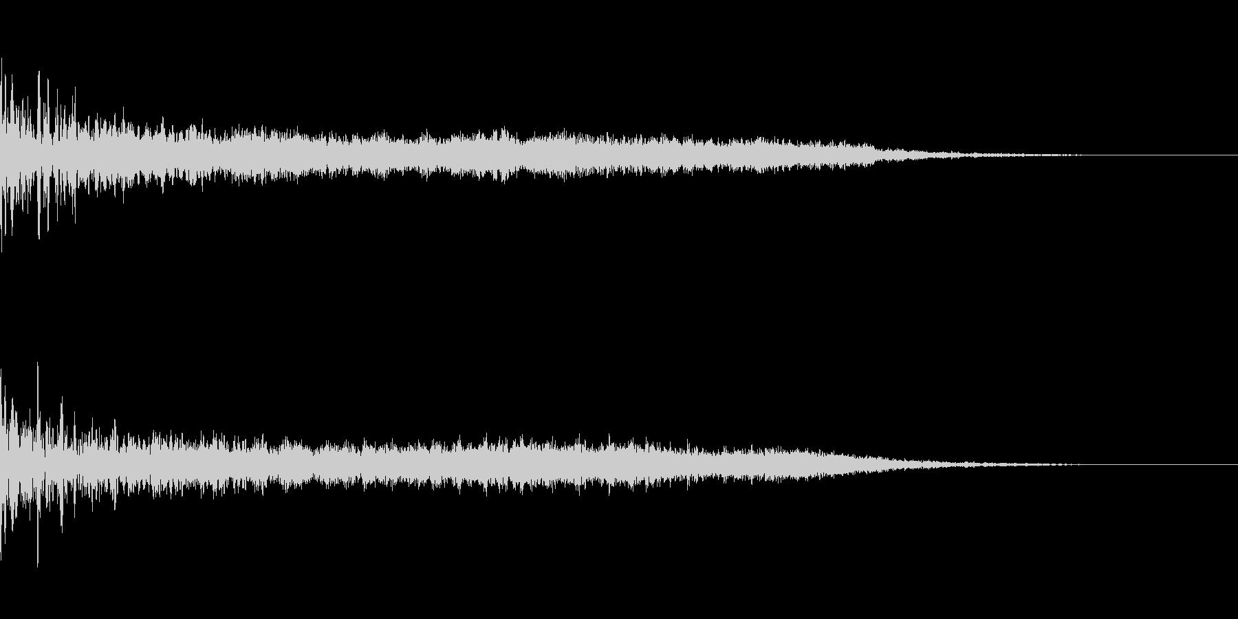 不気味なジングル(ゲームオーバーなど)の未再生の波形