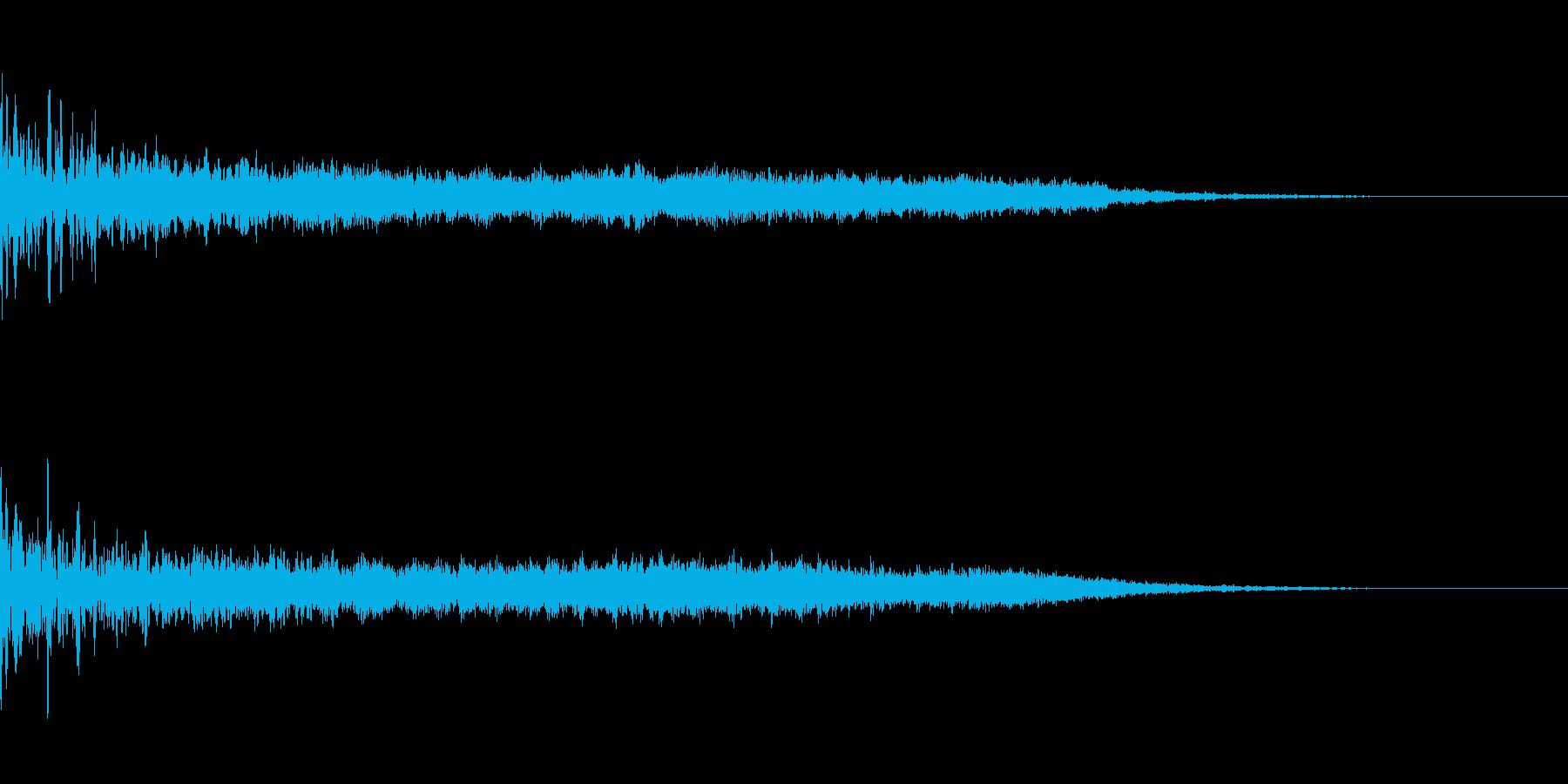 不気味なジングル(ゲームオーバーなど)の再生済みの波形