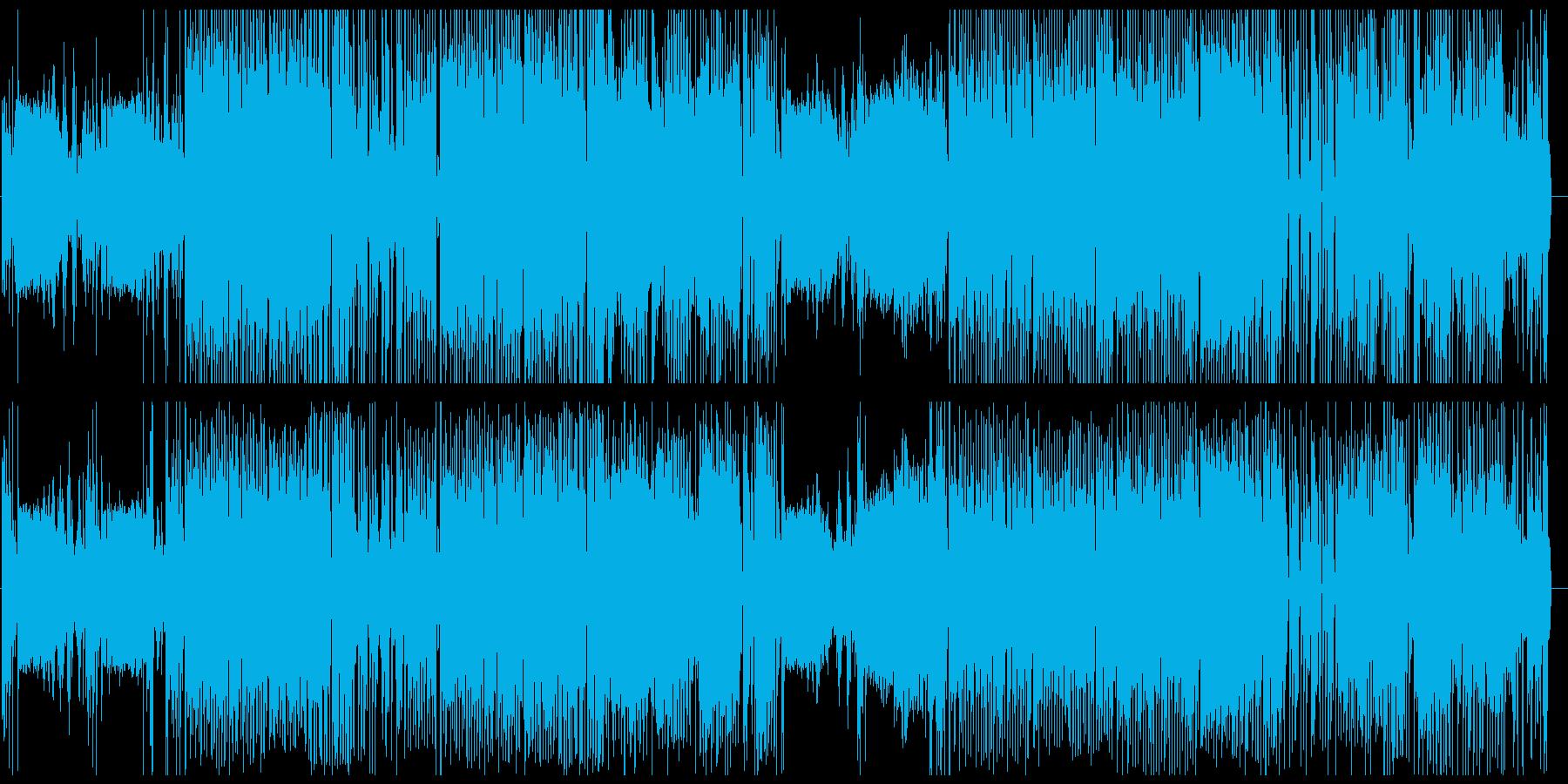 高エネルギッシュなジャングルスタイルの再生済みの波形