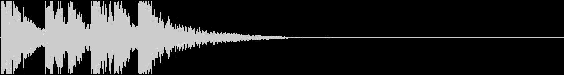 ゲームクリア! かわいらしい ジングル2の未再生の波形