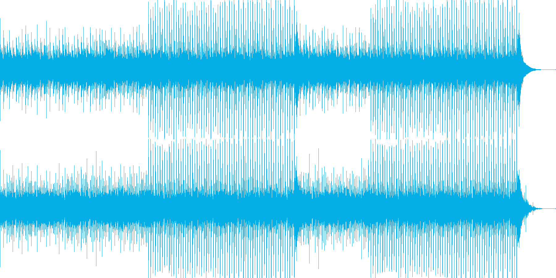 企業VP系28、爽やかギター4つ打ち7aの再生済みの波形