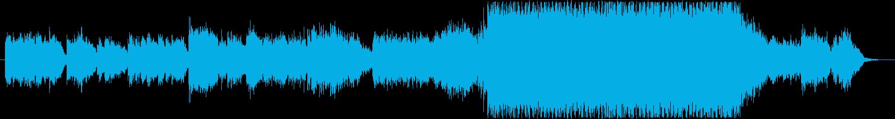 サイバーパンクな街のイメージのBGMの再生済みの波形