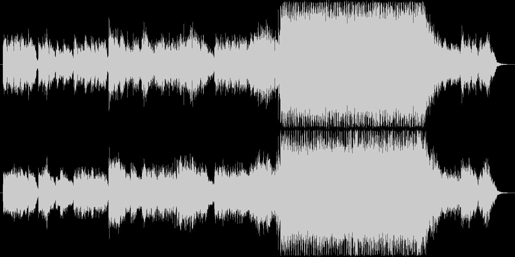 サイバーパンクな街のイメージのBGMの未再生の波形