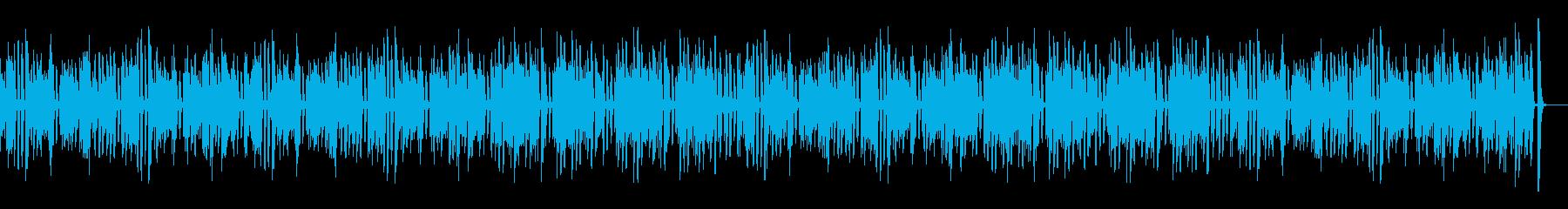 料理や作業動画向き可愛いレトロピアノの再生済みの波形