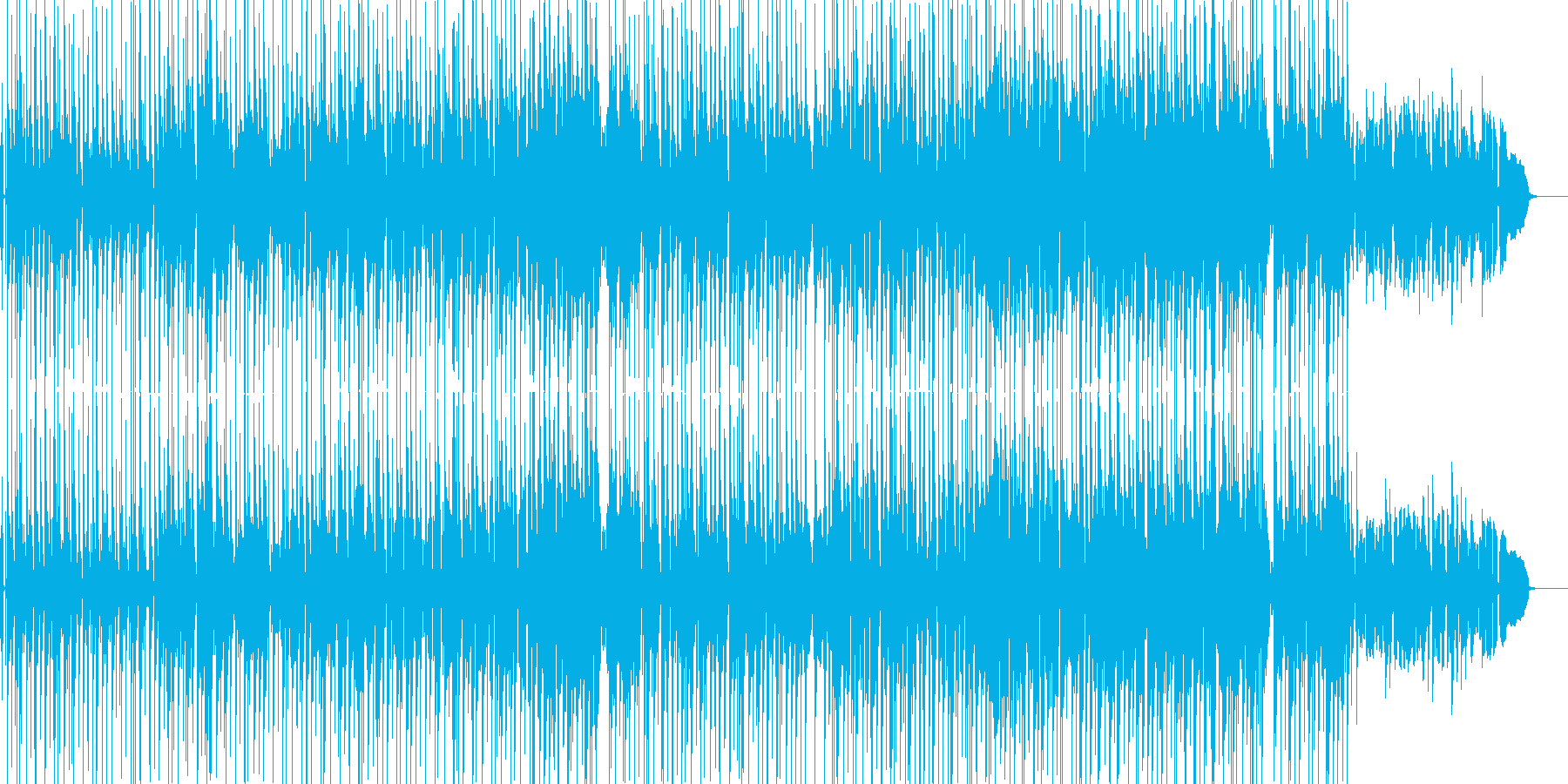 ゆったりしたアコースティックなポップスの再生済みの波形