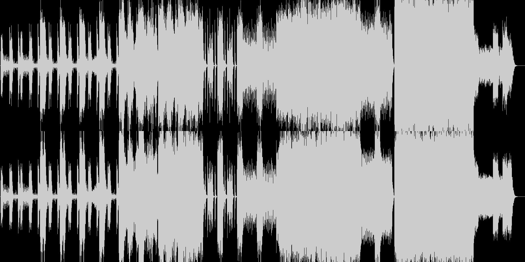 オーケストラメインの格好いい曲の未再生の波形