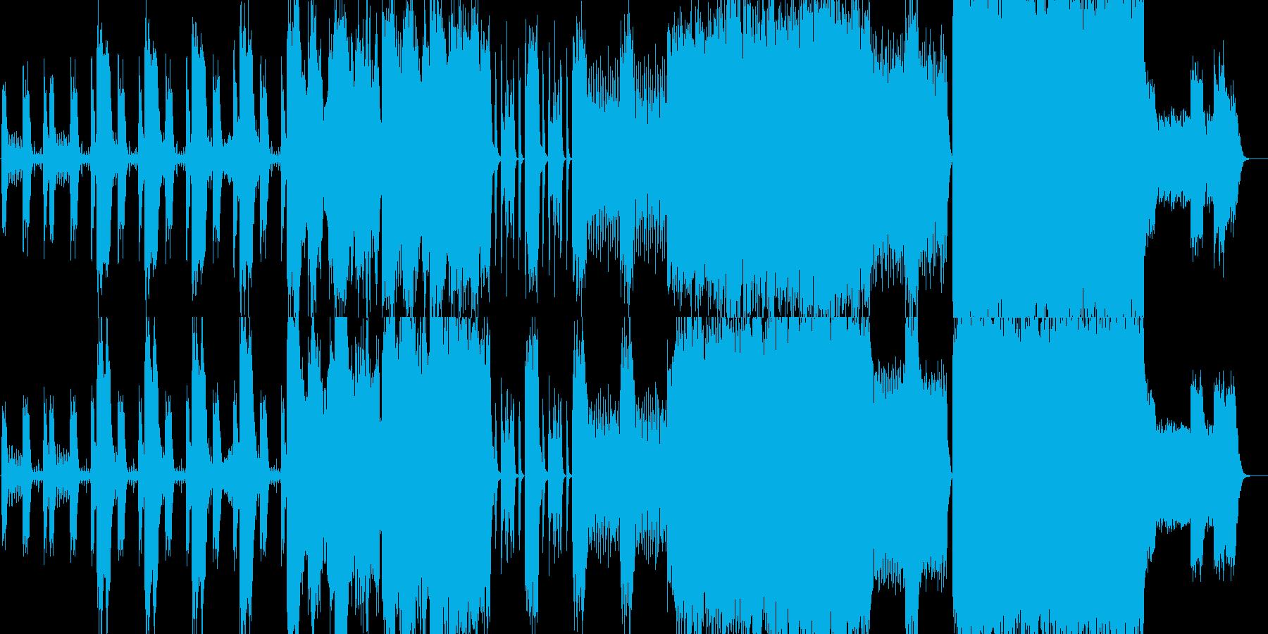 オーケストラメインの格好いい曲の再生済みの波形