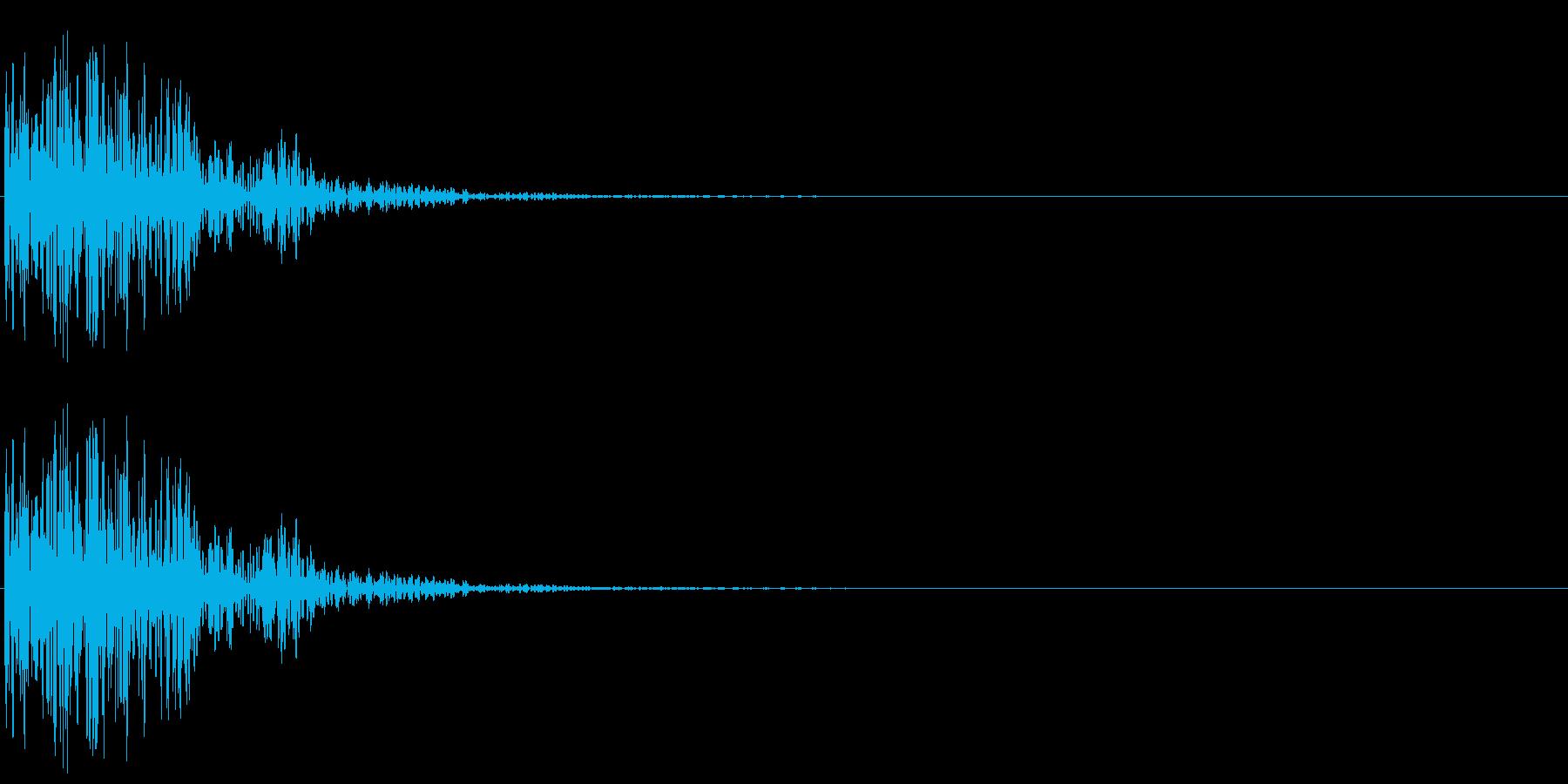 太鼓ドドドンの再生済みの波形