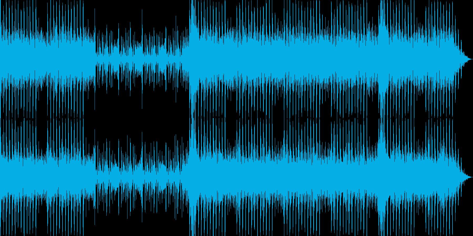 最先端の科学をイメージ。テクノ系サウンドの再生済みの波形