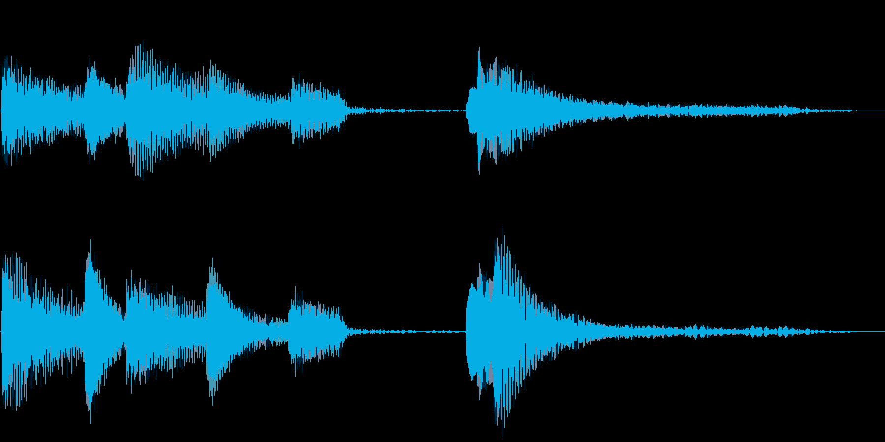 シンプルで明るいピアノのジングル(5秒)の再生済みの波形