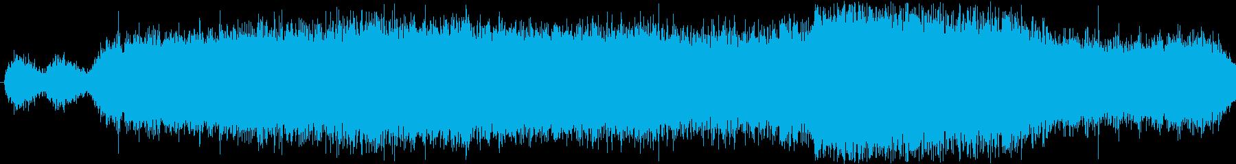 異空間風変な音の再生済みの波形