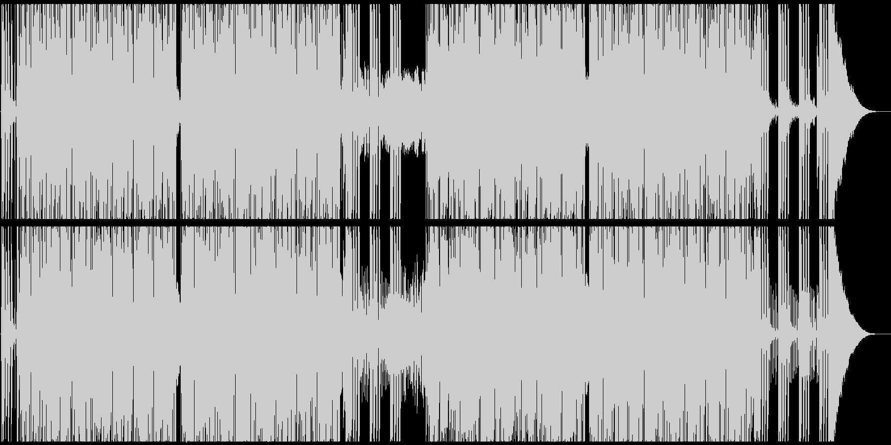騒がしいロックンロールの未再生の波形