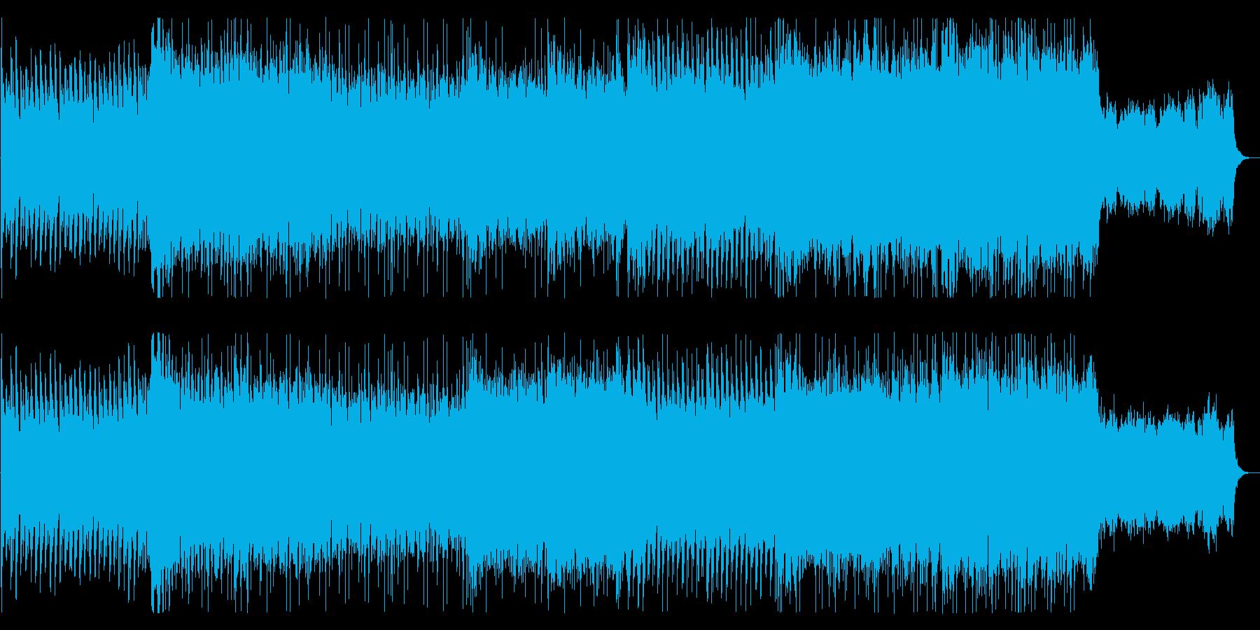 気迫と威圧感強めのギターロックの再生済みの波形