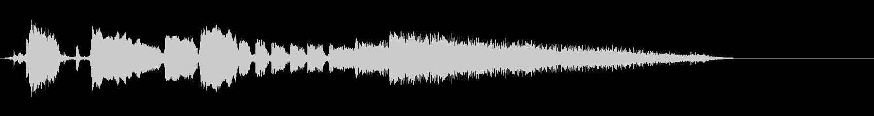 【エレキギター】ブルージーなフレーズの未再生の波形
