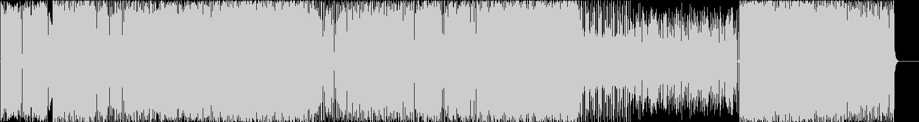 ロックな感じの明るいインスト曲の未再生の波形