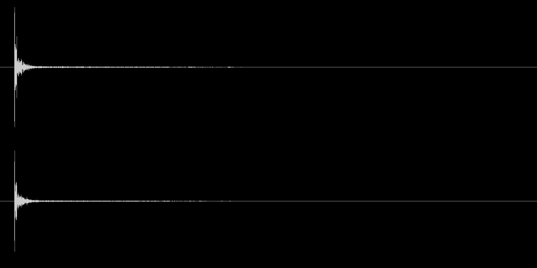和太鼓の桶胴おけどう枠打ち単発音+Fxの未再生の波形