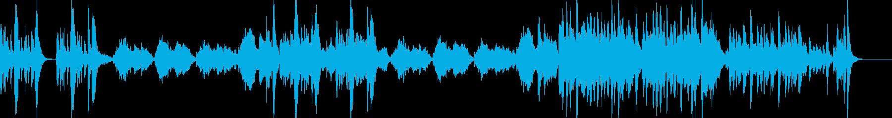 小動物が出てきそうな軽快なオーケストラ曲の再生済みの波形