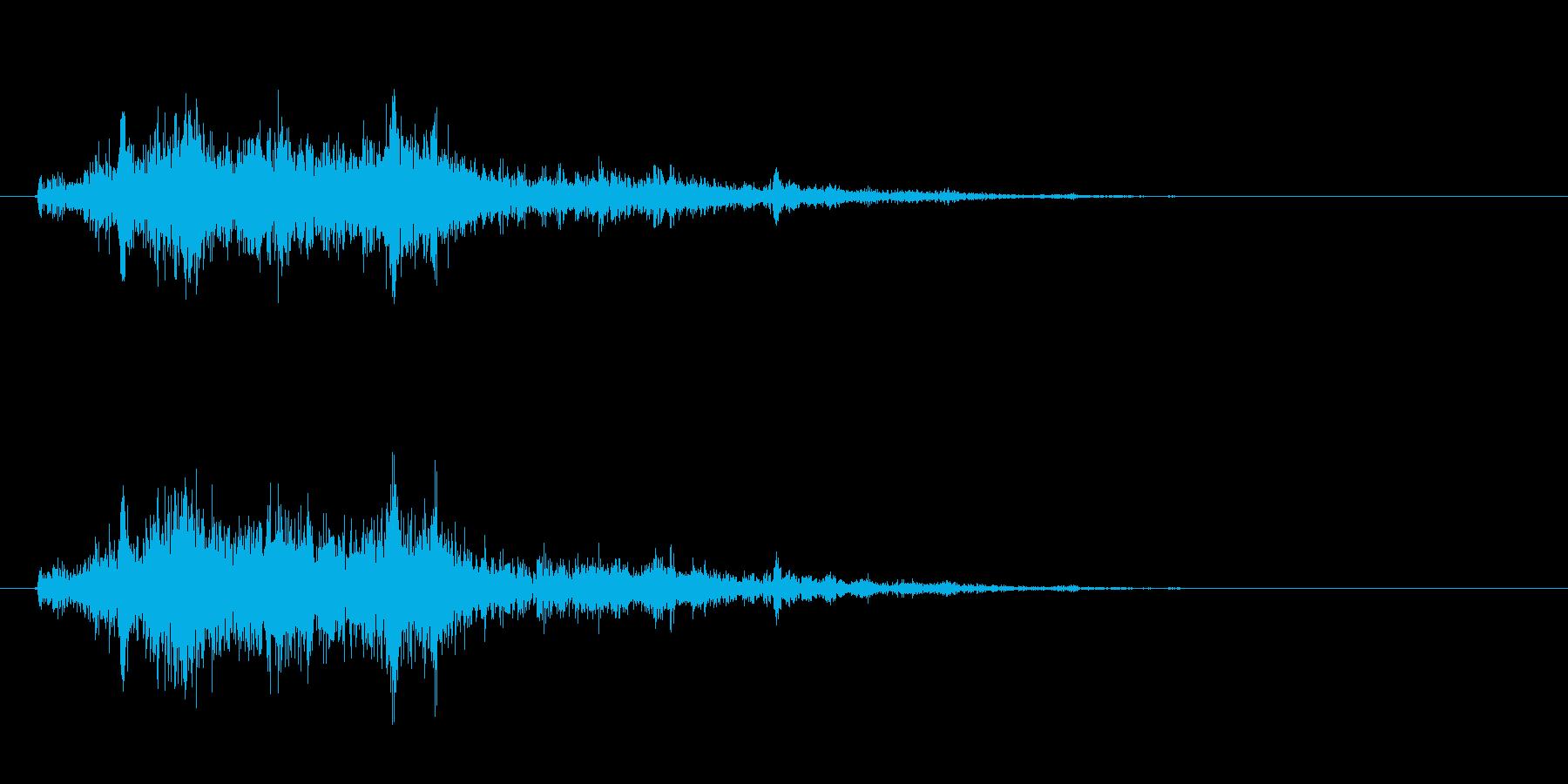 [生録音]ミキサーで混ぜる04-一瞬の再生済みの波形