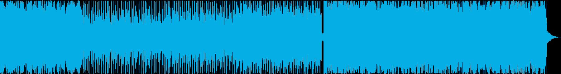 シリアスなギターロックの再生済みの波形