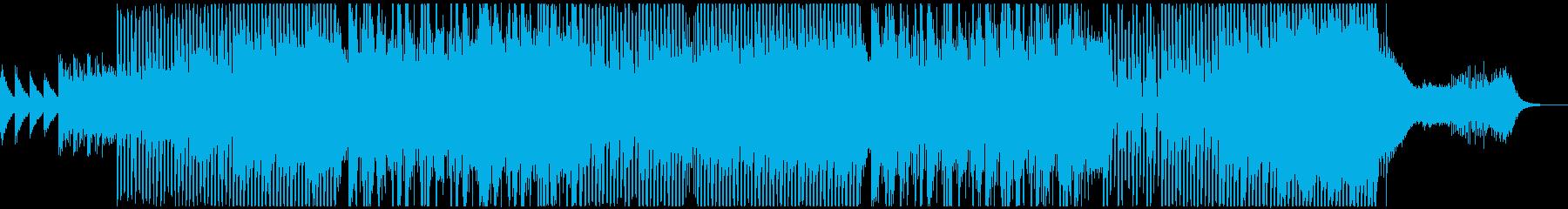 威勢のある元気で和風な印象のEDMの再生済みの波形