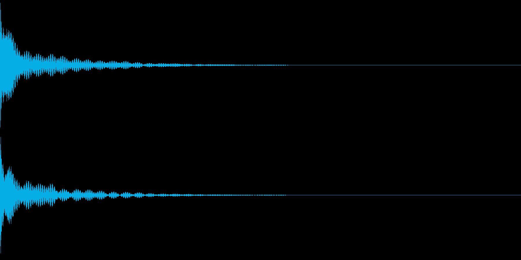 【生録音】チリーン(フィンガーシンバル)の再生済みの波形