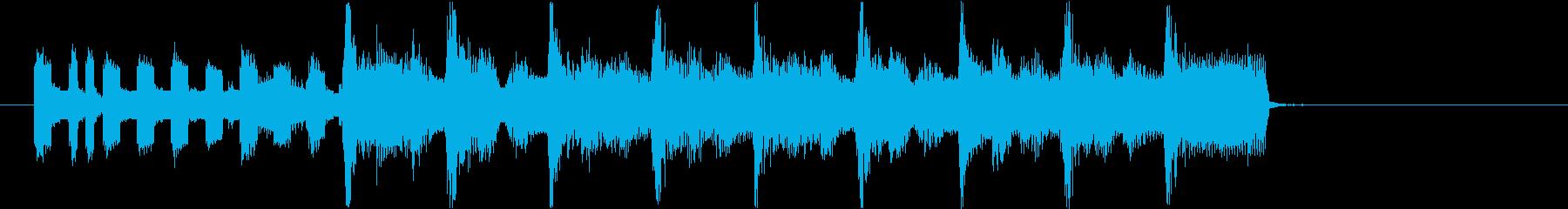 レトロゲーム風のハッピーなジングル!の再生済みの波形