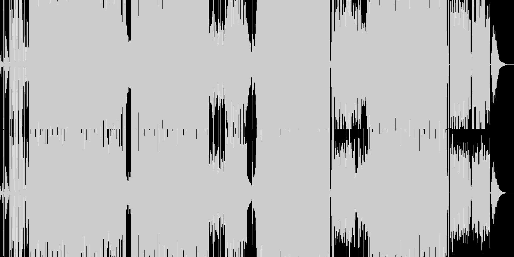 迫力のあるカーチェイスなどのBGMの未再生の波形
