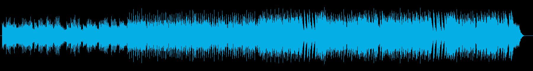 明るいダンスポップのメヌエットの再生済みの波形