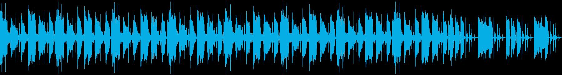 ギターとピアノのシンプルなループ曲の再生済みの波形