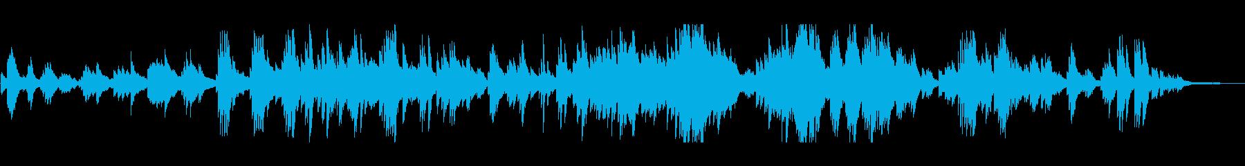 夏・祭り ノスタルジックで和風なピアノの再生済みの波形