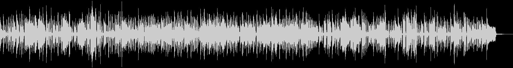 オルガンによるロック調のブルースの未再生の波形