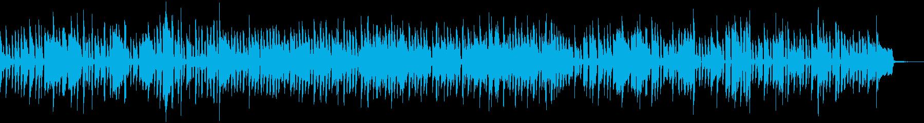 オルガンによるロック調のブルースの再生済みの波形