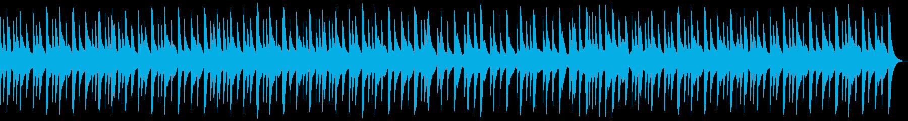 オルゴール調の切ないクリスマス曲の再生済みの波形