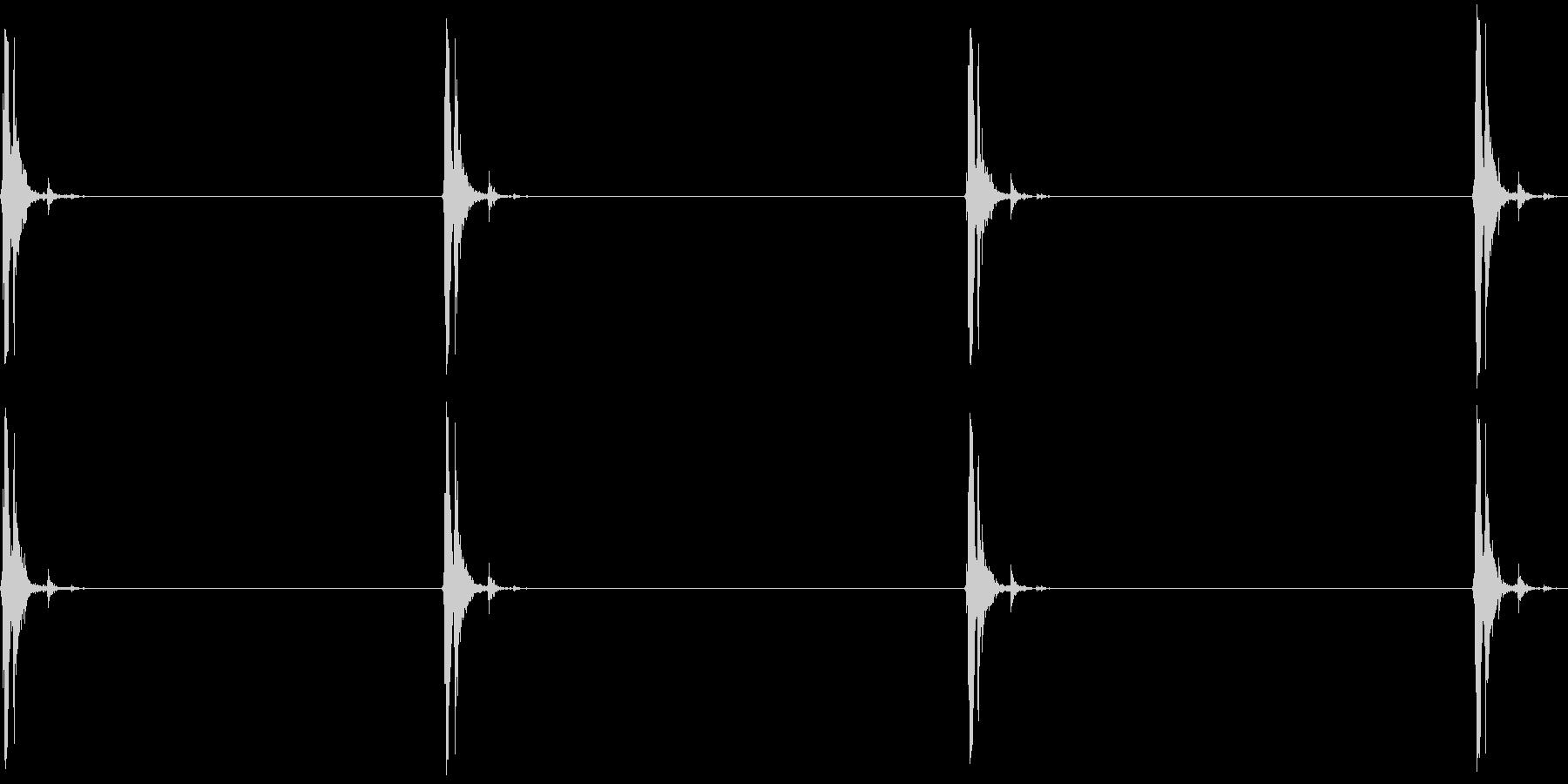 電気ステープルガン:いくつかのショ...の未再生の波形