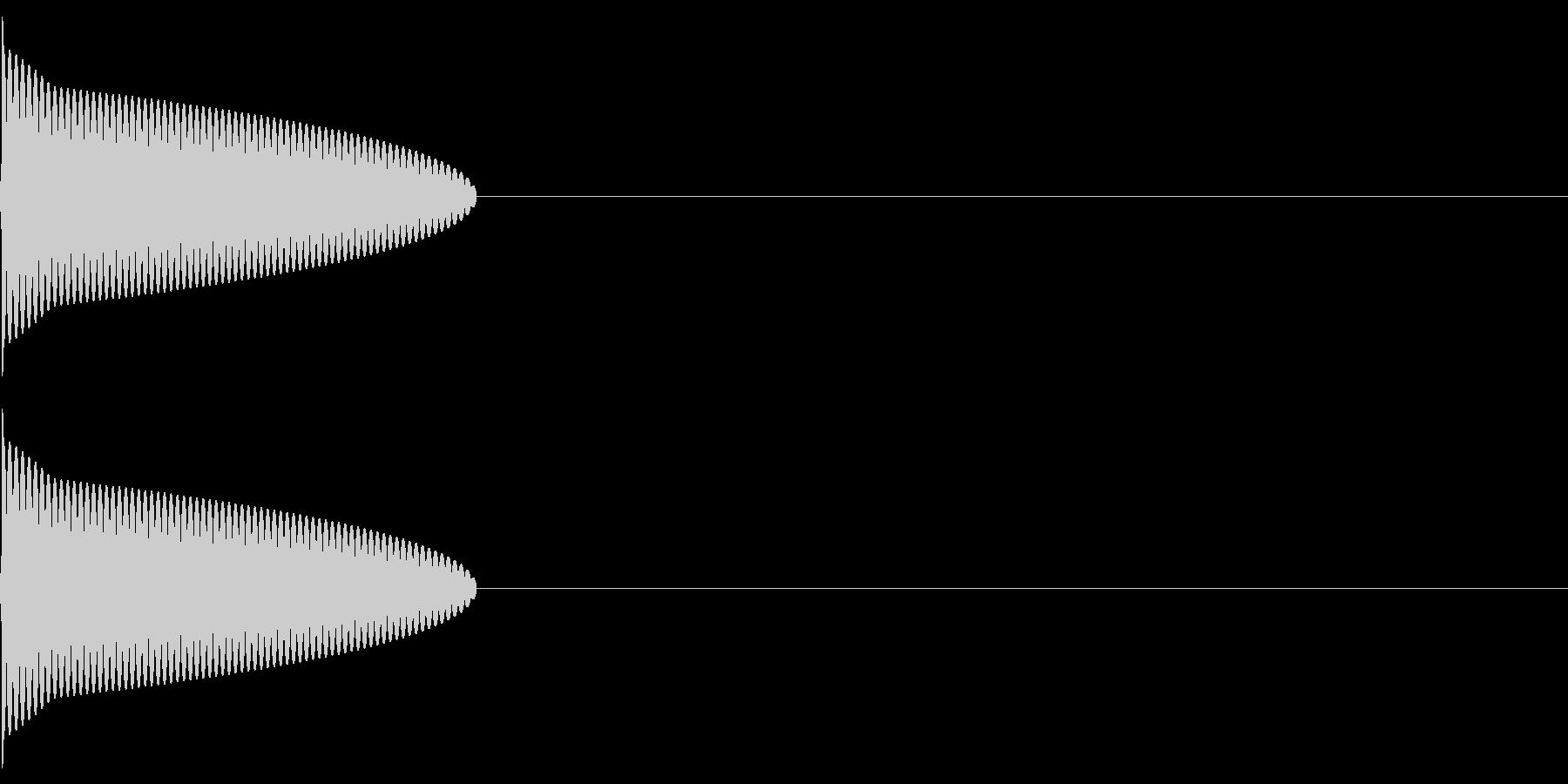 ピッ(決定/選択/ピコピコ/ファミコンの未再生の波形