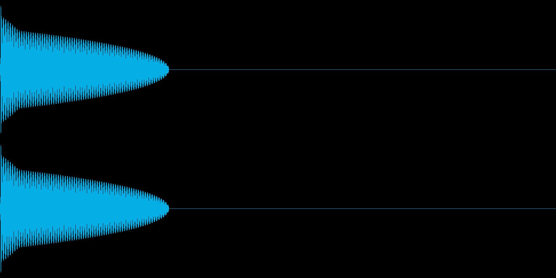 ピッ(決定/選択/ピコピコ/ファミコンの再生済みの波形