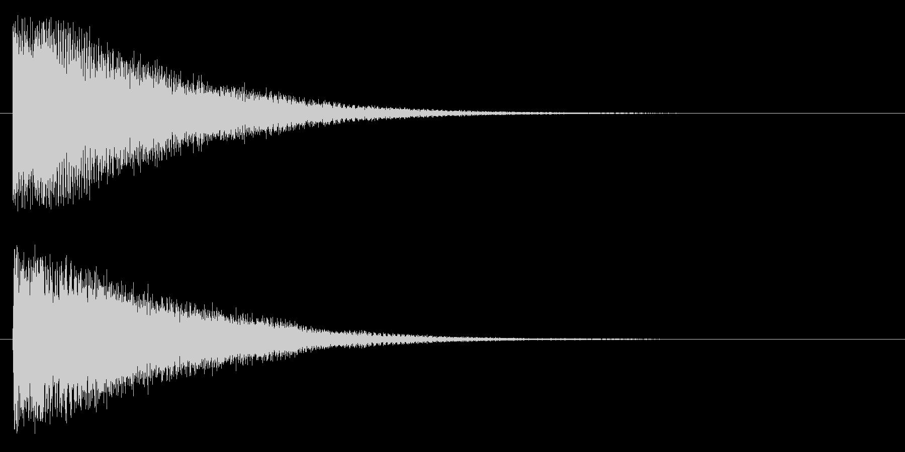 バーン(発表系)の未再生の波形