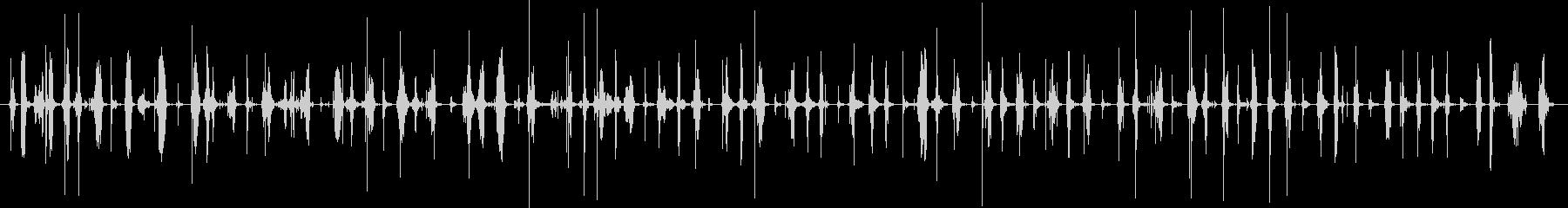 バイノーラル足音歩く3サンダル_左の未再生の波形