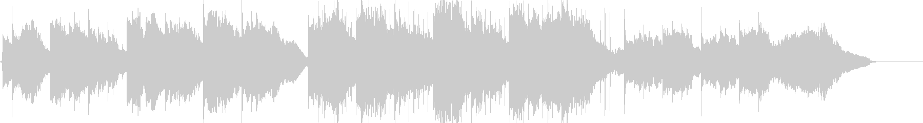 生演奏ソプラノサックスの子守唄の未再生の波形