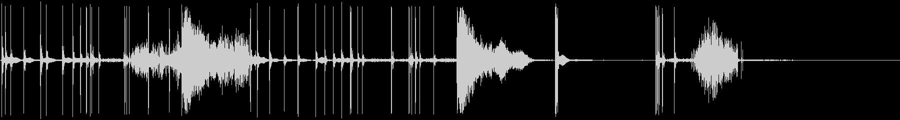 花火:複数のポッピングとホイッスリ...の未再生の波形