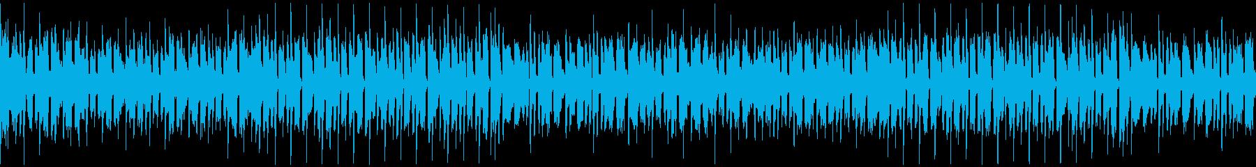 元気で明るいシンセとピアノ/ループ可の再生済みの波形