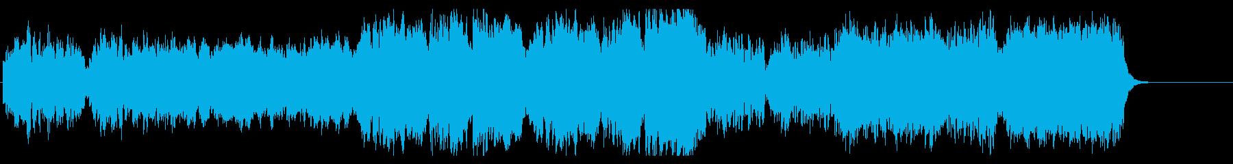 神聖な雰囲気のオーケストラBGMの再生済みの波形